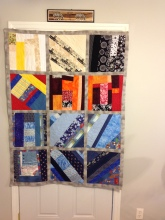 Scrap fabric quilted blanket