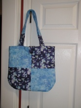 Blue's quilted tote