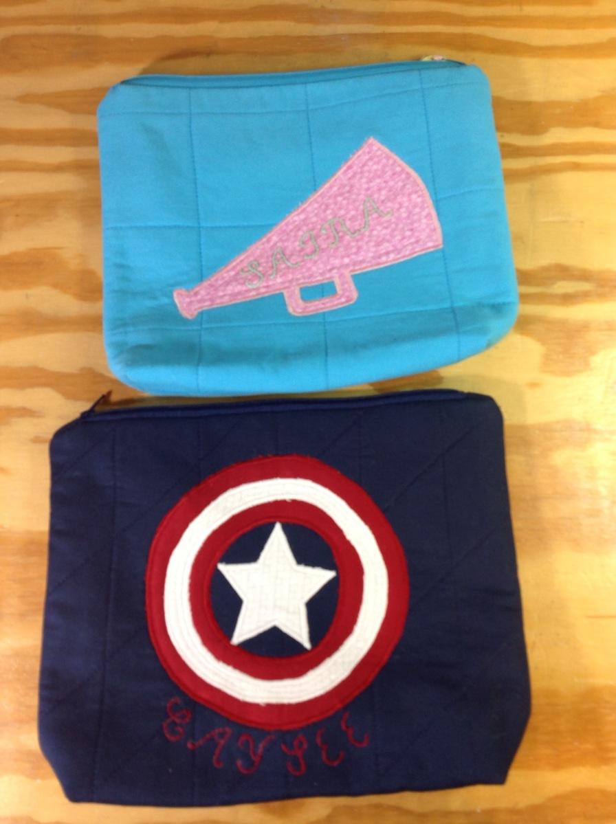 Customer made zipper pouches