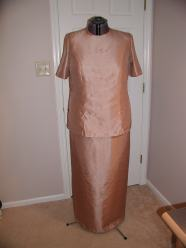 Mother-of-the-groom dress in progress