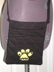 Paw quilted purse