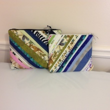 Zipper pouches made with fabric selvedges