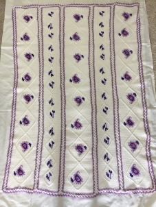 Afghan stitch and cross stitch blanket