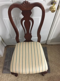 Upholstered dinning room chair seat