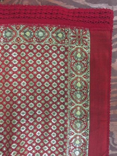 Crochet edging on tablecloth