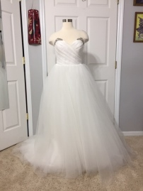 Wedding gown alteration (bodice and hem)