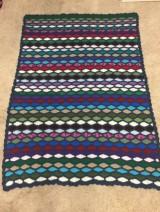 Crochet waves blanket