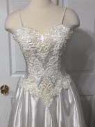 Wedding gown refashioned