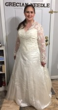 Wedding gown alteration (hem and lace blouse)