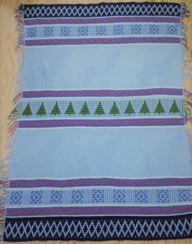 Wolf crochet blanket