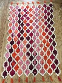 Lanterns crochet lap blanket