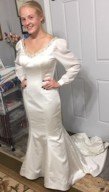 Wedding gown refashioning