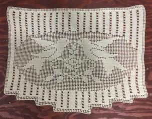 Love birds crochet doily