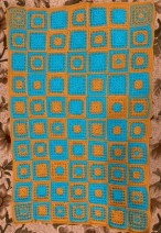 Waffle stitch crochet lap blanket